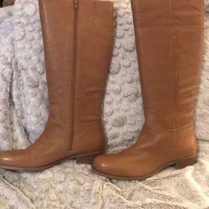 Wide calf knee boots